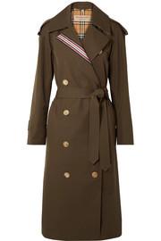 버버리 Burberry Striped cotton-gabardine trench coat
