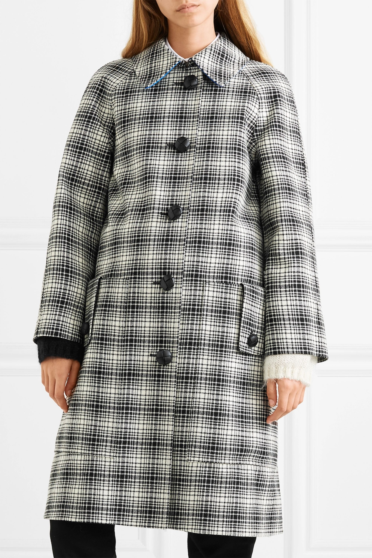 Burberry Manteau en laine à carreaux
