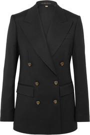 Burberry Wool and silk-blend double-breasted blazer