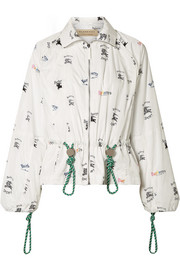 Burberry Printed shell jacket