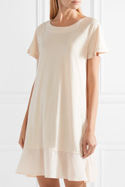 Skin Voile-trimmed cotton-jersey nightdress