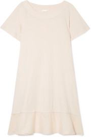 Voile-trimmed cotton-jersey nightdress