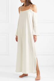 Skin Cold-shoulder cotton-jersey nightdress