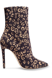 Davidson leopard-print jersey ankle boots