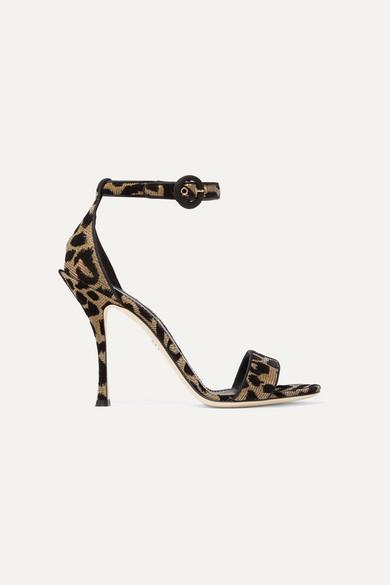 Dolce Sandalen & Gabbana | Sandalen Dolce aus Metallic-Canvas mit Flockdruck 58df51