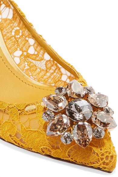 Dolce & schnurgebundener Gabbana | Pumps aus schnurgebundener & Spitze mit Kristallen 2f9bde