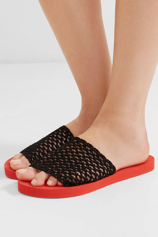 GANNI Crocheted slides