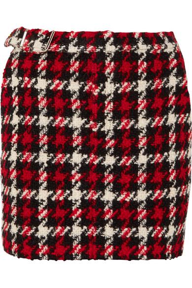 McQ Alexander McQueen - Wool-blend Bouclé Mini Skirt - Red