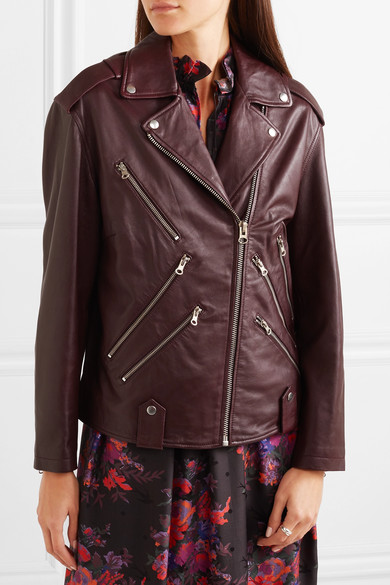 d46c99bbe360f McQ Alexander McQueen | Oversized leather biker jacket | NET-A ...