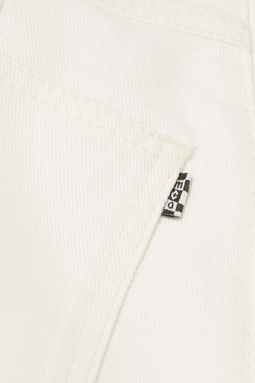 MCQ Frayed paneled denim mini skirt