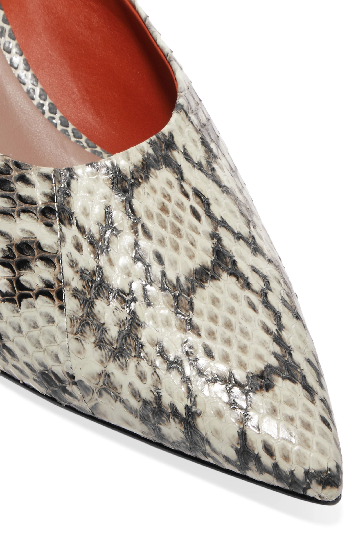 Diane von Furstenberg Mules en cuir effet serpent Nori