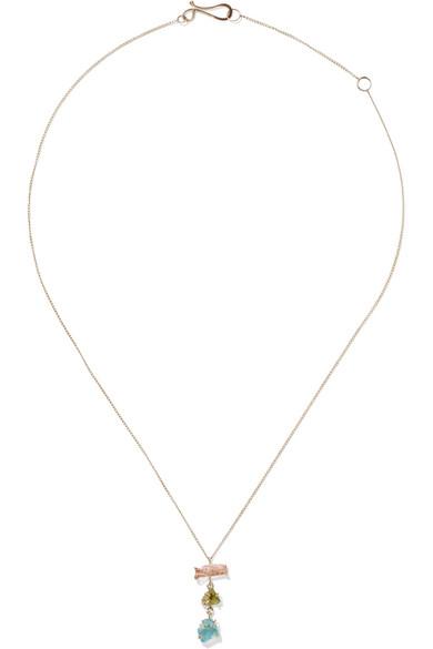 14-karat Gold Multi-stone Necklace - one size Melissa Joy Manning 7doldeWDm
