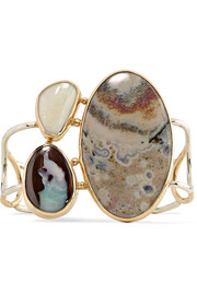 Melissa Joy Manning 14-karat gold, opal and jasper cuff