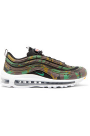Air Max 97 Country Camo leather and canvas sneakers