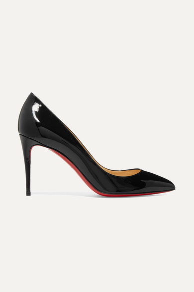 Pigalle Follies 85 Patent-Leather Pumps in Black