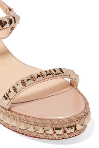 buy popular ef103 1289b Christian Louboutin | Cataclou 60 embellished patent-leather ...