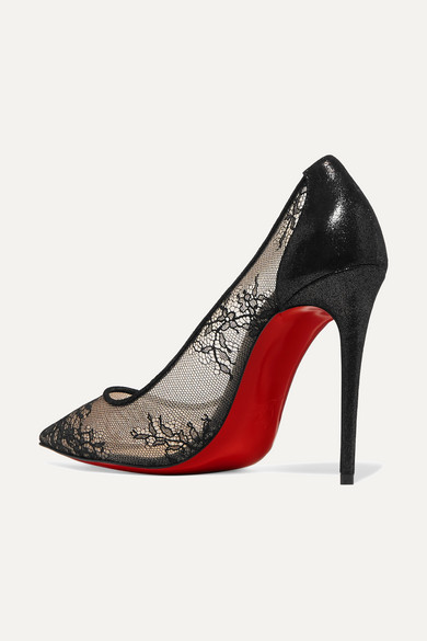 7cc60dcbe88f Christian Louboutin. 554 100 lace and lamé pumps. £635. Zoom In