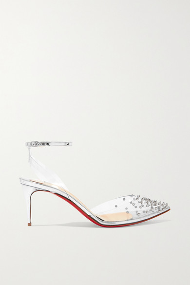 reputable site a654f e005d Spikoo 70 spiked PVC and mirrored-leather pumps