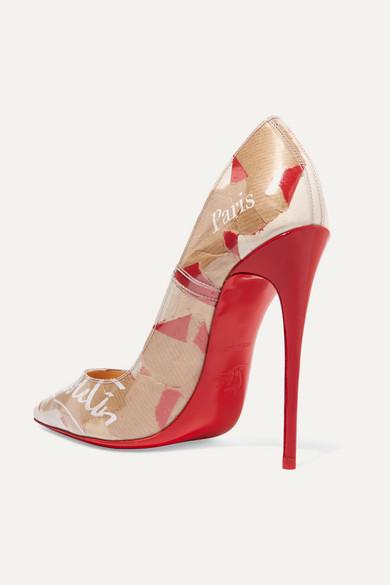 online retailer 5429d a481c Christian Louboutin | So Kate 120 logo-print PVC pumps | NET ...