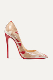Christian Louboutin So Kate 120 logo-print PVC pumps