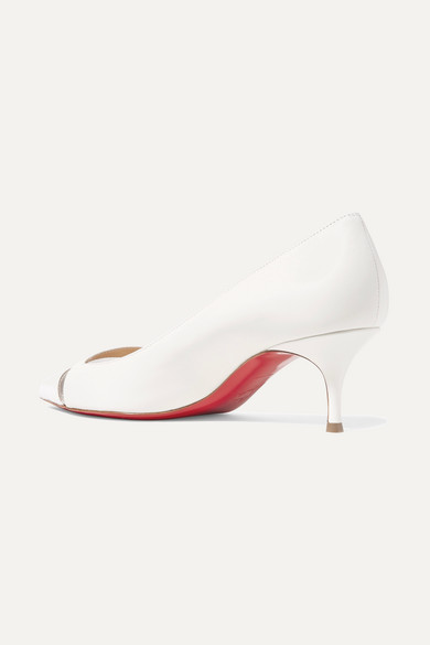 super popular f1c9e 7ded2 Christian Louboutin | 17th Floor 55 PVC-trimmed leather ...