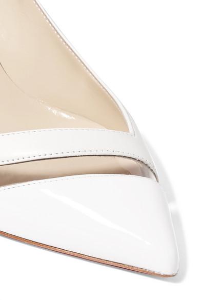 super popular 80d72 9182c Christian Louboutin | 17th Floor 55 PVC-trimmed leather ...