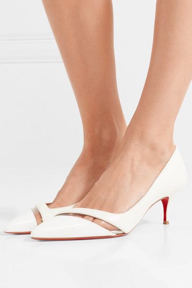 super popular 882f7 d423d Christian Louboutin   17th Floor 55 PVC-trimmed leather ...