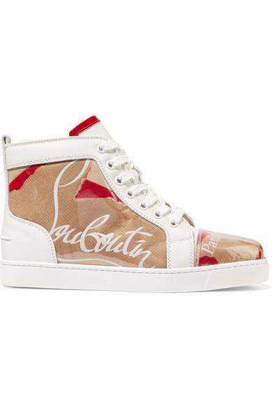 Christian Louboutin Leder | Louis Sneakers aus Leder Louboutin und PVC mit Logoprint 02527b