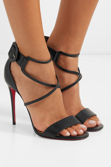 super popular 905ed 9323b Christian Louboutin | Choca 100 leather sandals | NET-A ...
