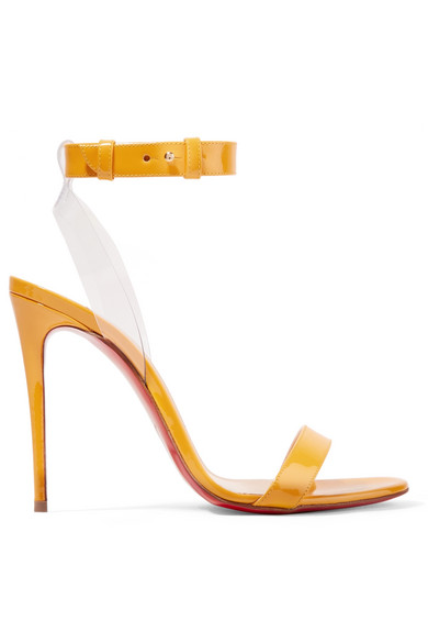 Jonatina 100 Pvc Trimmed Patent Leather Sandals by Christian Louboutin