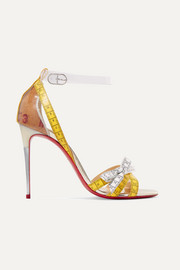 Christian Louboutin Metrisandal 100 PVC and leather sandals