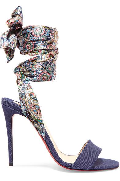 Sandale Du Desert 100 Sandalen Aus Denim Mit Print - Mittelblauer Denim Christian Louboutin Steckdose Suchen Online-Shopping Günstig Online Verkauf Mit Paypal Px9BNI5