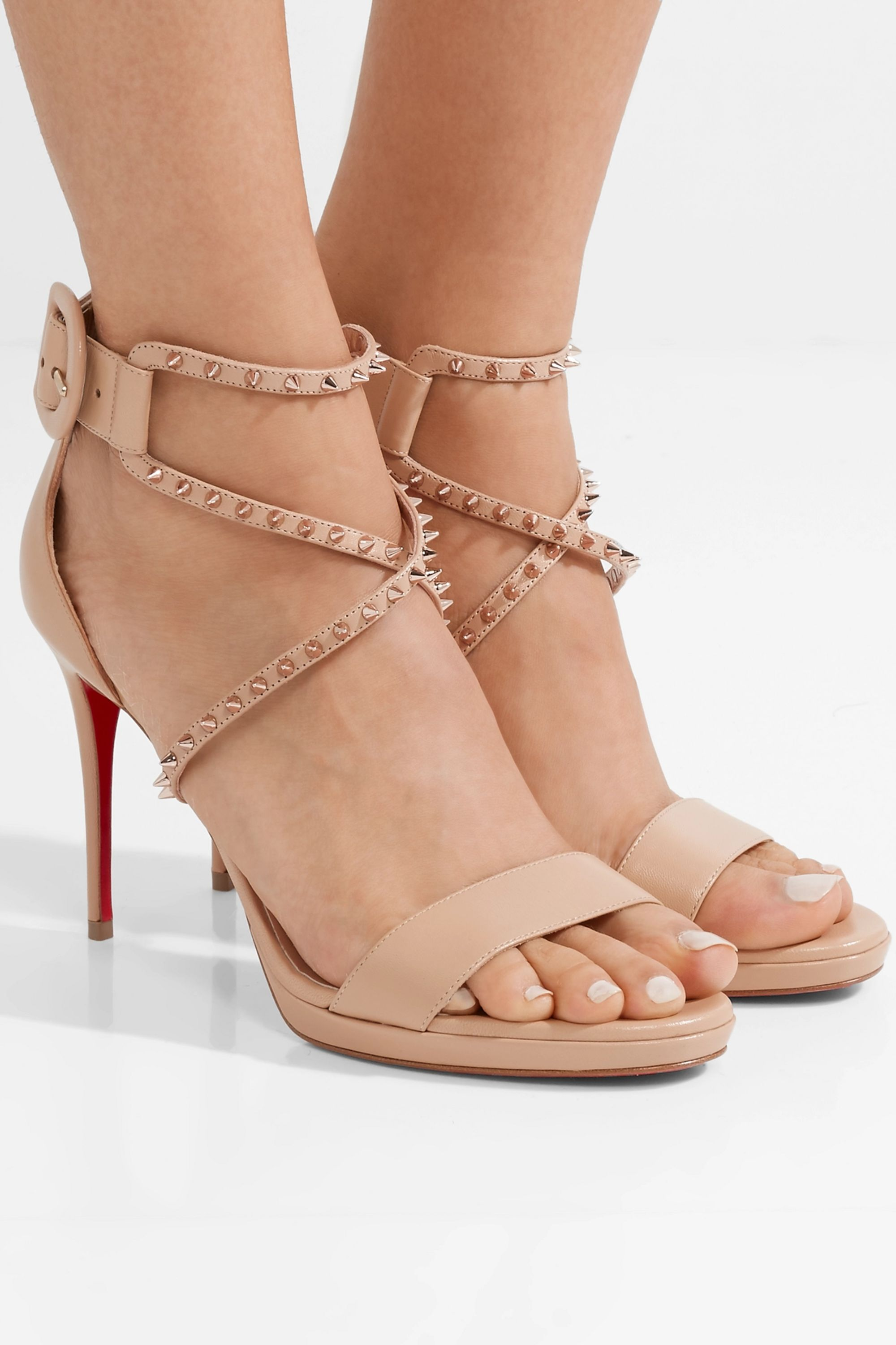 Choca Lux 100 studded leather sandals