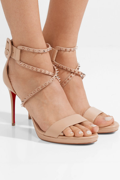 huge selection of f7e6c a7a04 Christian Louboutin | Choca Lux 100 studded leather sandals ...