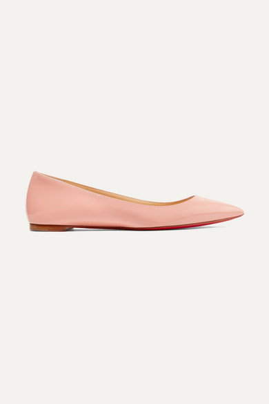reputable site 80791 a0b7b Ballalla patent-leather point-toe flats