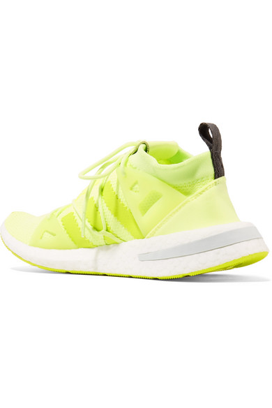 0d6a4d8608ea adidas Originals. Arkyn rubber-trimmed neon mesh sneakers.  140. Play