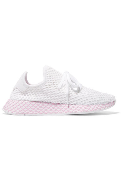 f282c831 adidas Originals | Deerupt Runner suede-trimmed mesh sneakers | NET ...