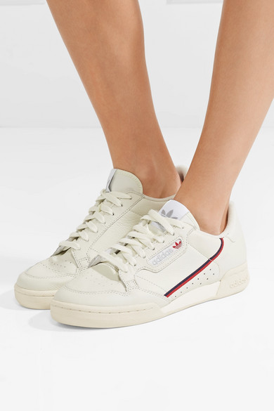 0908235f9cd8 adidas Originals. Continental 80 grosgrain-trimmed leather sneakers