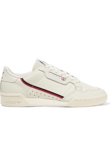 buy popular 4901d 692c3 continental-80-grosgrain-trimmed-leather-sneakers by adidas-originals