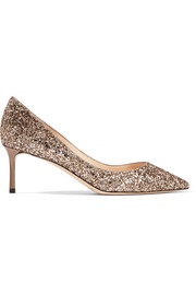 Romy 60 sequined leather pumps