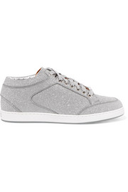 Jimmy Choo Miami Sneakers aus Leder mit Glitter-Finish
