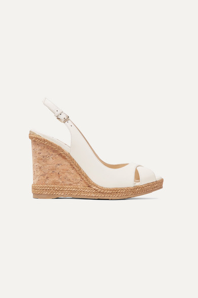 Amely 105 leather slingback wedge sandals