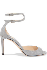 Jimmy Choo Lane 85 Sandalen aus Leder mit Glitter-Finish