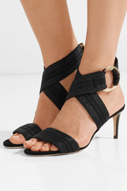 Jimmy Choo Bailey 65 canvas and leather sandals