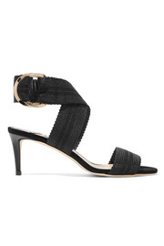 Jimmy Choo Bailey 65 Sandalen aus Canvas und Leder