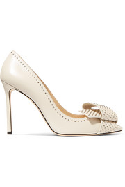 Jimmy Choo Tegan 100 verzierte Pumps aus Leder