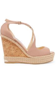 Jimmy Choo Dakota 120 Wedges aus Leder