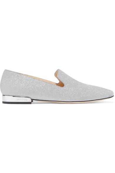 Jimmy Choo | Jaida Glitter-Finish Loafers aus Leder mit Glitter-Finish Jaida 1ae434
