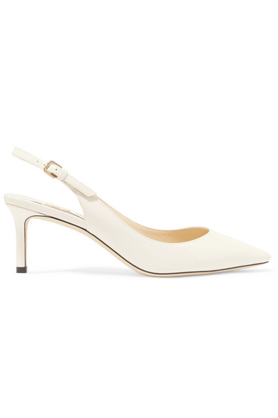 aab8489a597b Jimmy Choo. Erin 60 patent-leather slingback pumps