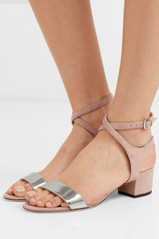 Jimmy Choo Marine 35 suede and metallic leather sandals
